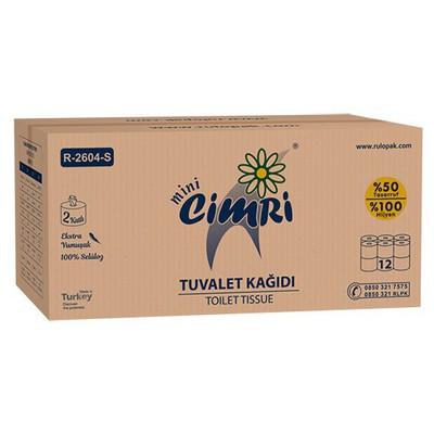 Rulopak Cimri Içten Çekmeli  Mini 1 Koli Model R-2604 S Tuvalet Kağıdı