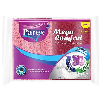 Parex Bulaşık Süngeri Mega Comfort 2 Adet Bez / Sünger