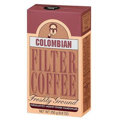 Mehmet Efendi Kurukahveci Colombian Filtre  250 G Kahve