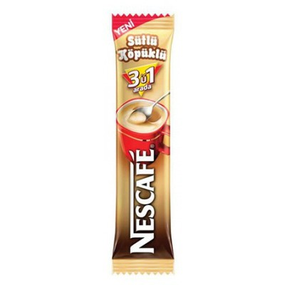 Nescafe Hazır  3'ü 1 Arada Sütlü Köpüklü 48 Adet Kahve