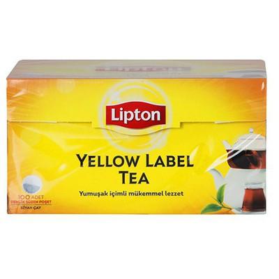 Lipton Yellow Label Demlik  100 Adet Poşet Çay