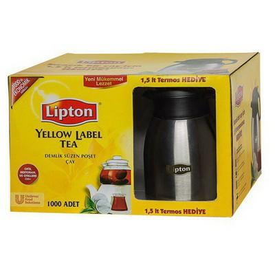 Lipton Yellow Label Demlik  1000'li Paket Termos Hediyeli Poşet Çay