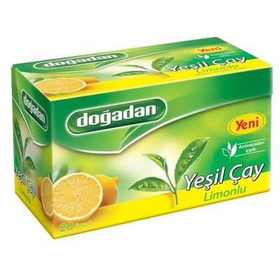 Dogadan Bardak Poşet Yeşil Çay Limon Aromalı 20 Adet Bitki Çayı