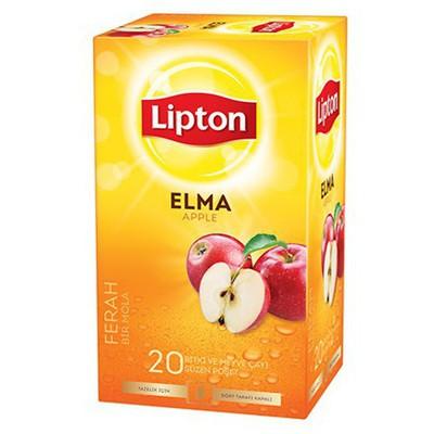 Lipton Bardak Poşet Çay Elma Aromalı 20 Adet Bitki Çayı