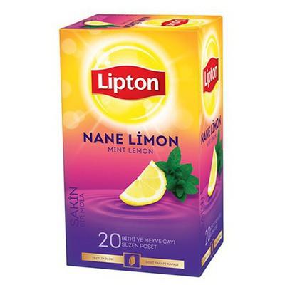 Lipton Bardak Poşet Çay Nane Limon Aromalı 20 Adet Bitki Çayı