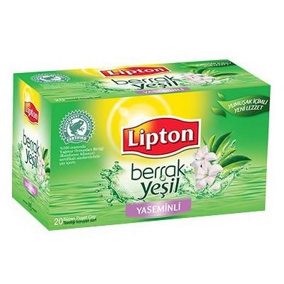 Lipton Bardak Poşet Yeşil Çay Berrak Yasemin Aromalı 20 Adet Bitki Çayı