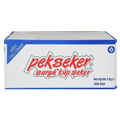 Pekseker Küp  Tek Sargılı 5 Kg 1800 Adet Şeker