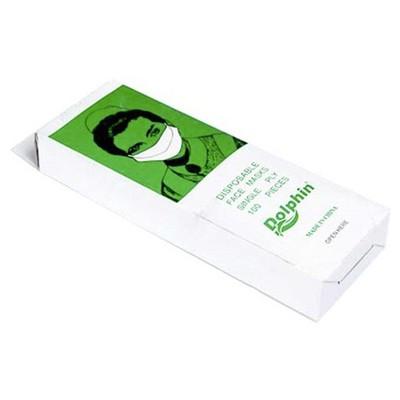 Dolphin Tek Katlı Kağıt Maske 100'lü Paket Galoş / Bone Dispenseri