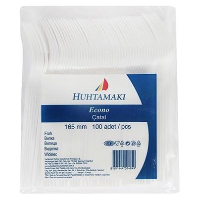 Huhtamaki Plastik Çatal Eco Beyaz 100 Adet Kullan At Malzemeler