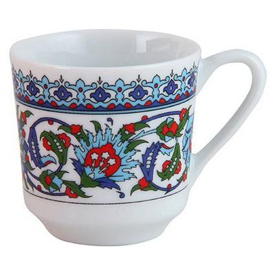 Güral Porselen Topkapı Serisi Kahve  6'lı Fincan Takımı