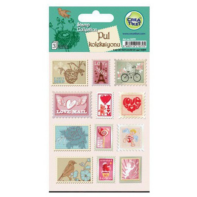 Crea Tiket Creatiket 1079 Pul Koleksiyonu Sticker Okul Etiketleri