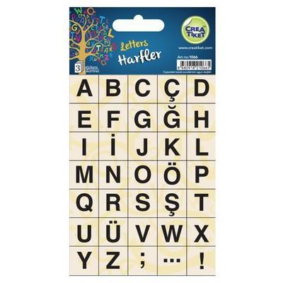 Crea Tiket Creatiket 1066 Harfler Sticker Okul Etiketleri