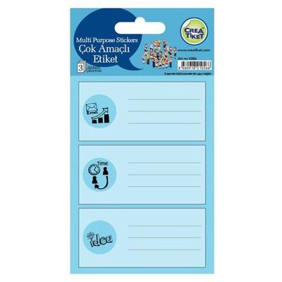 Crea Tiket Creatiket 1056 Çok Amaçlı Etiket Sticker Okul Etiketleri