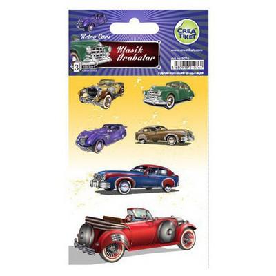 Crea Tiket Creatiket 1076 Klasik Arabalar Sticker Okul Etiketleri