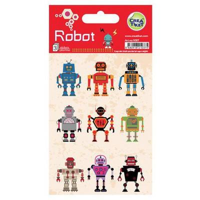 Crea Tiket Creatiket 1037 Robot Sticker Okul Etiketleri