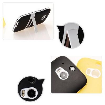 Microsonic Standlı Soft Htc One M8 Kılıf Siyah Cep Telefonu Kılıfı