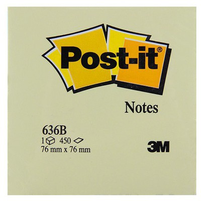 Post-It 3m  76 X 76 Mm Sarı 450 Yaprak (636b) Not Kağıdı