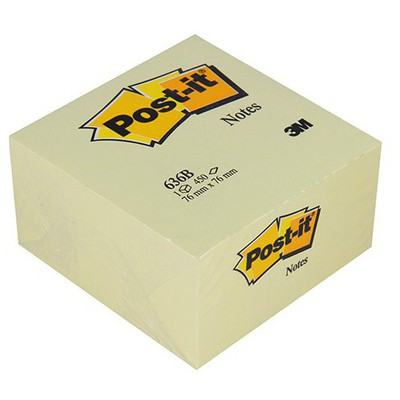 Post-It 3M  76 x 76 mm Sarı 450 Yaprak (636B) Not Kağıdı
