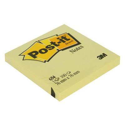 Post-It 3m  76 X 76 Mm Sarı 100 Yaprak (654) Not Kağıdı