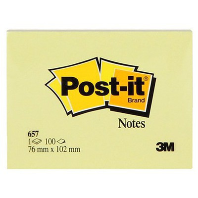 Post-It 3m  76 X 102 Mm Sarı 100 Yaprak (657) Not Kağıdı
