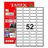 Tanex Yazıcı Etiketi 46.4x21.2 Mm 5200 Adet Model Tw-2052 Etiket
