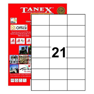 Tanex 70x42,43 Mm Laser  Tw-2124 Etiket
