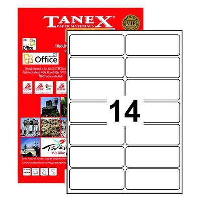 Tanex Yazıcı i 99.1x38.1 Mm 1400 Adet Model Tw-2014 Etiket