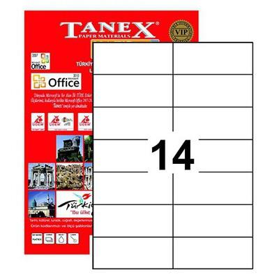 Tanex Yazıcı i 105x42.69 mm 1400 Adet Model TW-2712 Etiket