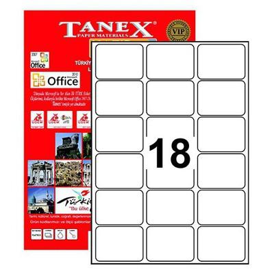 Tanex 63,5x46,6 Mm Laser Etiket Tw-2018 Lazer Etiketleri