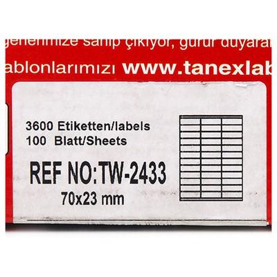Tanex Yazıcı i 70x23 Mm 3600 Adet Model Tw-2433 Etiket