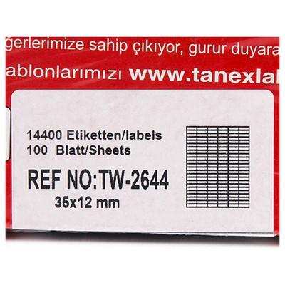 Tanex 35x12 Mm Laser  Tw-2644 Etiket