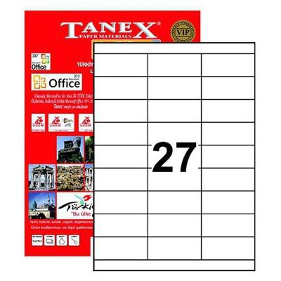 Tanex 70x30 Mm Laser  Tw-2327 Etiket