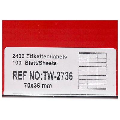 Tanex 70x36 Mm Laser  Tw-2736 Etiket