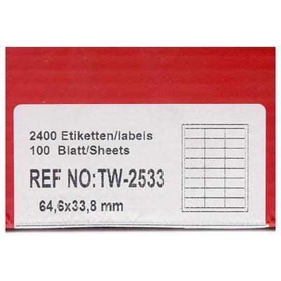 Tanex 64,6x33,8 Mm Laser  Tw-2533 Etiket