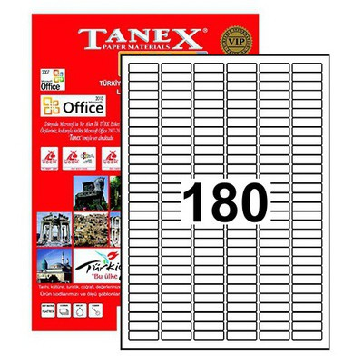Tanex 30x9 Mm Laser Etiket Tw-2060 Lazer Etiketleri