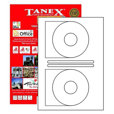 Tanex Yazıcı i 116x41 mm 200 Adet Model TW-2116 CD Etiket