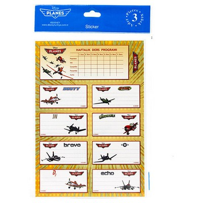 Keskin Color Planes Ders Programı 3`lü Etiket