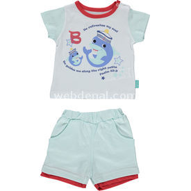 Bebetto K1038 Yunus Bebek Takımı 2li Mint 6-9 Ay (68-74 Cm) Kız Bebek Takım