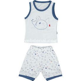 Bebetto K1065 Captain Bebek Takımı 2li Lacivert 6-9 Ay (68-74 Cm) Erkek Bebek Takım