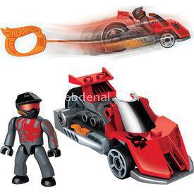 Mega Bloks Hot Wheels Çek Bırak Araba Kırmızı Lego Oyuncakları