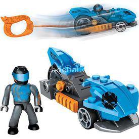 Mega Bloks Hot Wheels Çek Bırak Araba Mavi Lego Oyuncakları