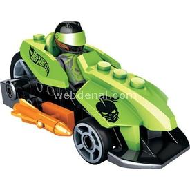 Mega Bloks Hot Wheels Çek Bırak Araba Yeşil Lego Oyuncakları