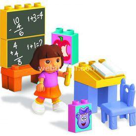 Mega Bloks Dora'nın Okul Macerası Oyun Seti Lego Oyuncakları