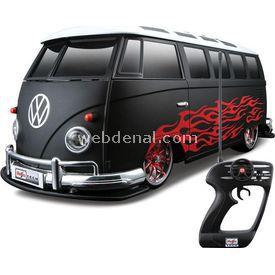 Maisto Tech 1:10 Volkswagen Van Samba U/k Araba Siyah Arabalar