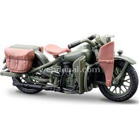 Maisto Harley Davidson 1942 Wla Flathead 1:24 Model Motosiklet Erkek Çocuk Oyuncakları
