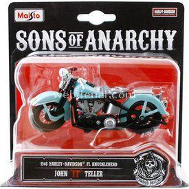 Maisto Sons Of Anarchy 1946 Harley Davidson Jt 1:18 Model Motosiklet Arabalar