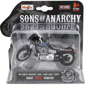 Maisto Sons Of Anarchy 2001 Harley Davidson Opie Model Motosiklet Arabalar
