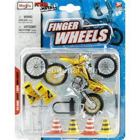Maisto Off-road Sarı Motosiklet Fresh Metal Finger Wheels Erkek Çocuk Oyuncakları