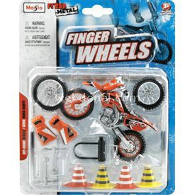 Maisto Off-road Turuncu Motosiklet Fresh Metal Finger Wheels Erkek Çocuk Oyuncakları