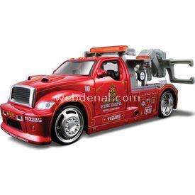 Maisto 2009 Wrecker Diecast 1:24 Model Araba Allstars Kırmızı Arabalar